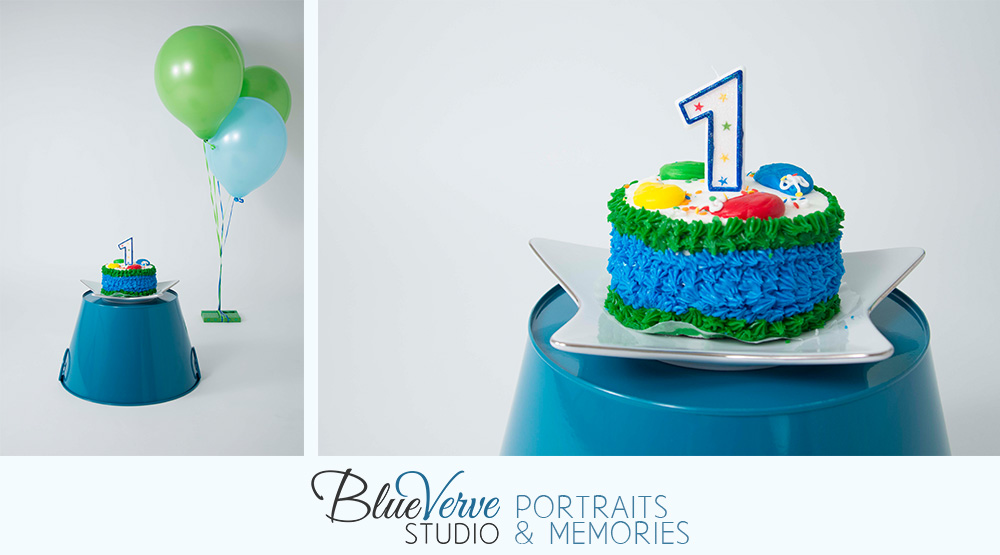 First Birthday Cake Smash BlueVerve Studio Photography Lake