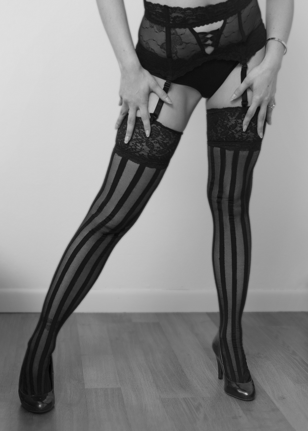 stockings boudoir photography, Lake Geneva, WI