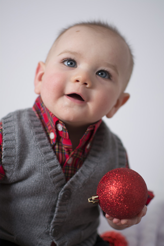 One Year Old Holiday Portraits Blueverve Studio