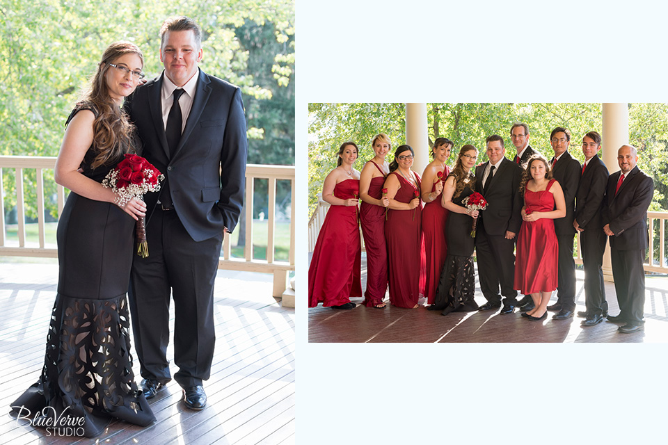 Wedding Party, Autumn Wedding, Lords Park Pavilion, Elgin, IL