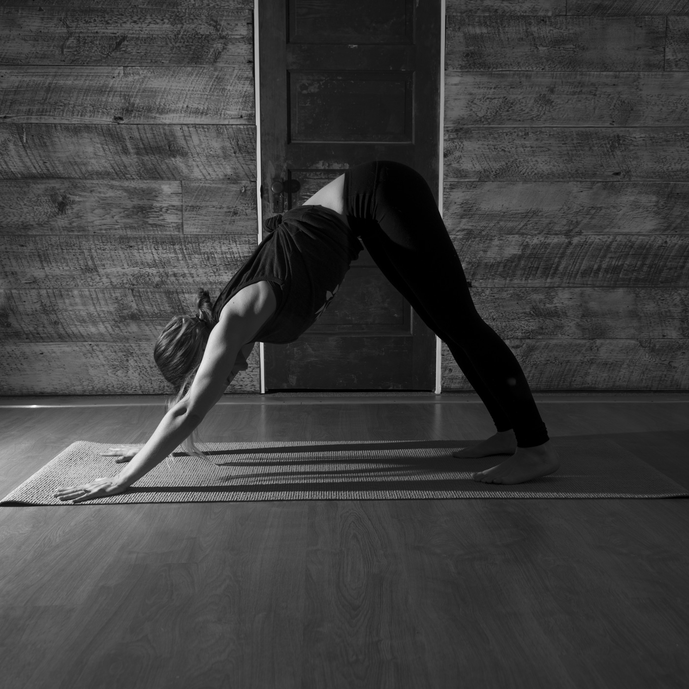 Black and White Yoga Instructor Personal Branding BlueVerve Studio