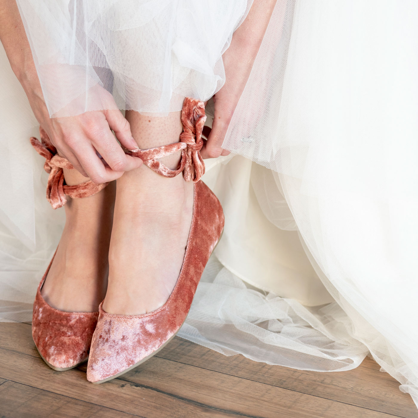 Coral Shoes Wedding Photography BlueVerve Studio