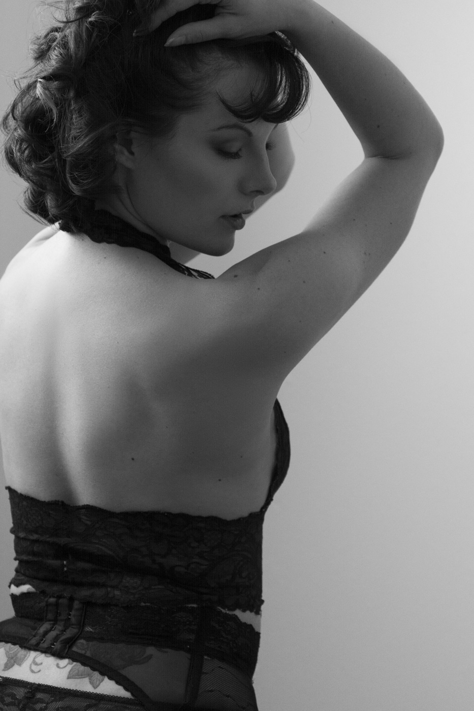 Black and White Boudoir Photography Williams Bay, WI