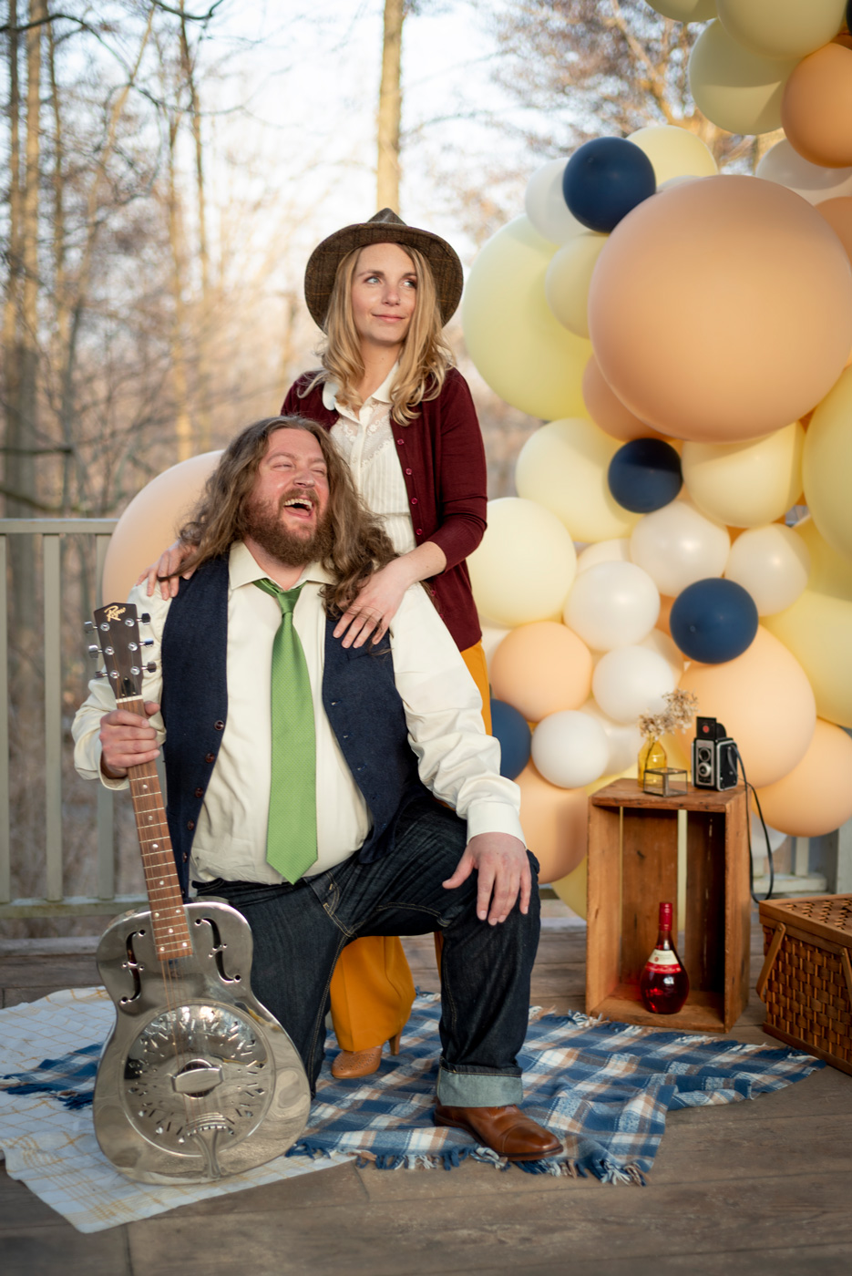 Styled Couples Adventure Session by BlueVerve Studio Vintage Balloons