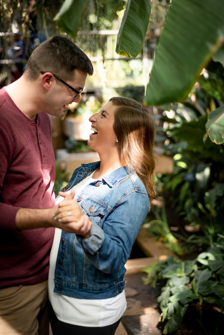 BlueVerve Studio Proposal Photography at Chicago Botanic Gardens