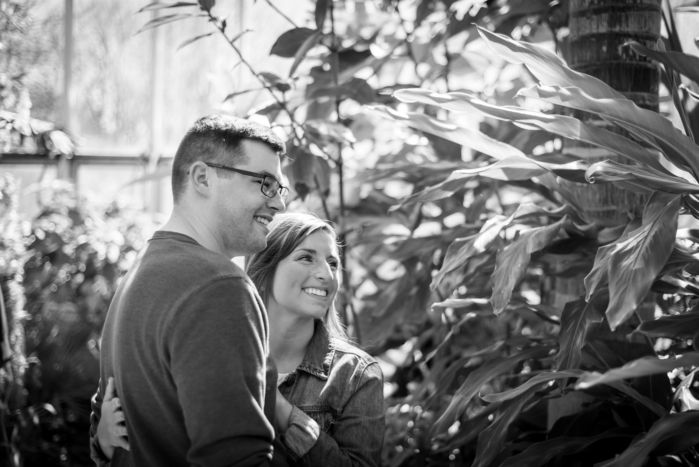 BlueVerve Studio Couples Adventure Portrait in Chicago Botanical Gardens
