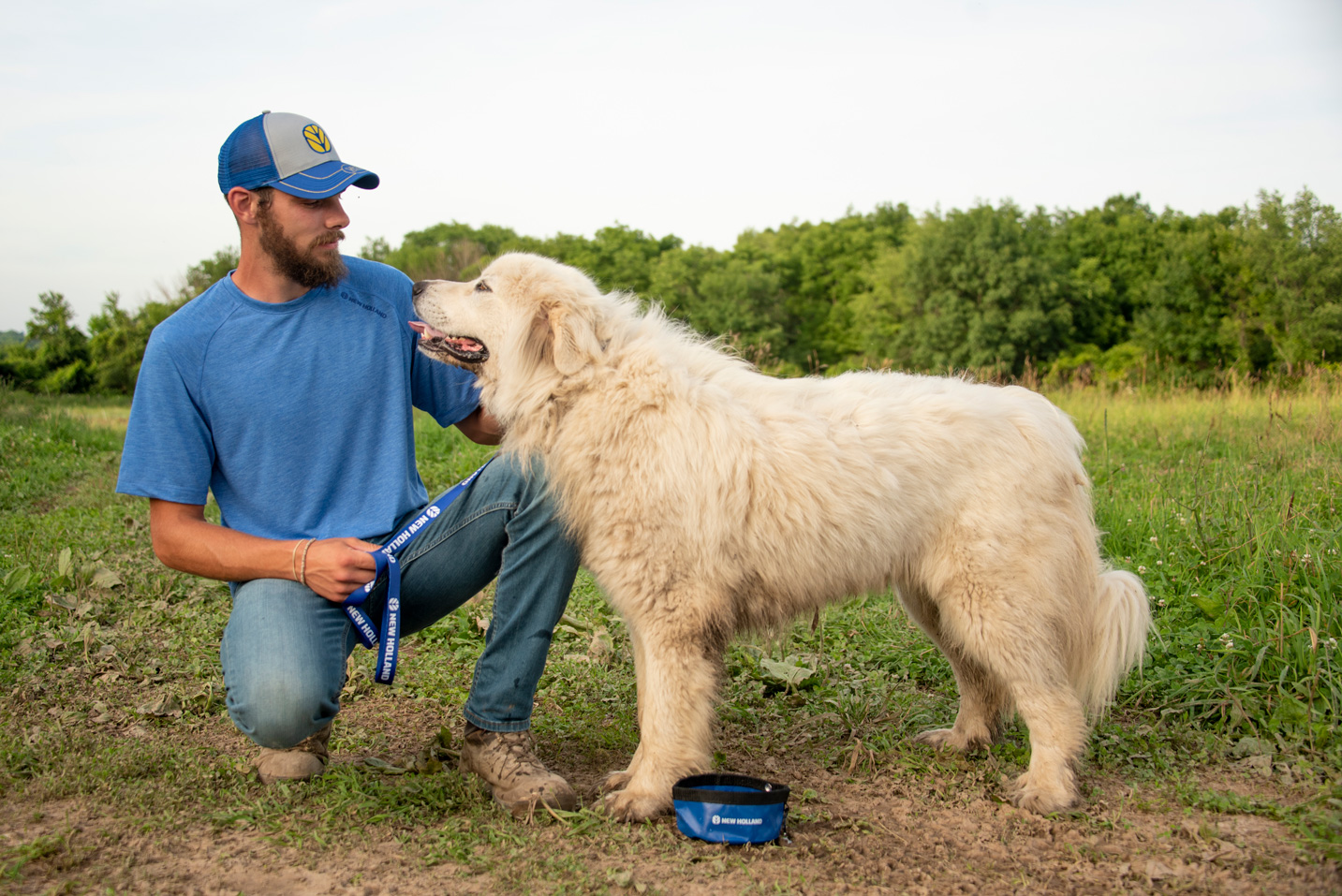 Man and Dog New Holland Apparel